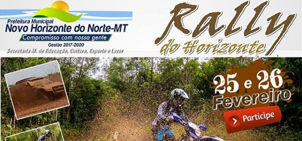 Quase tudo pronto para o 5º Rally do Horizonte em Novo Horizonte do Norte