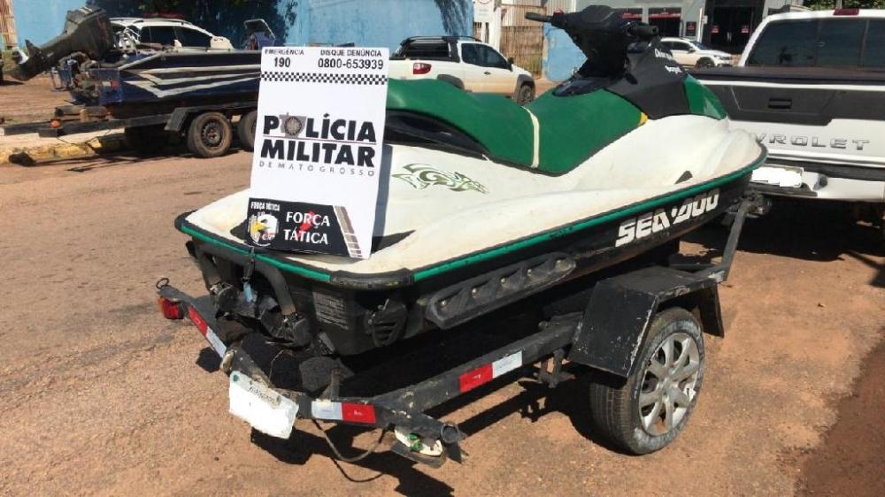 PM recupera moto aquática roubada em 2012 em Rondonópolis