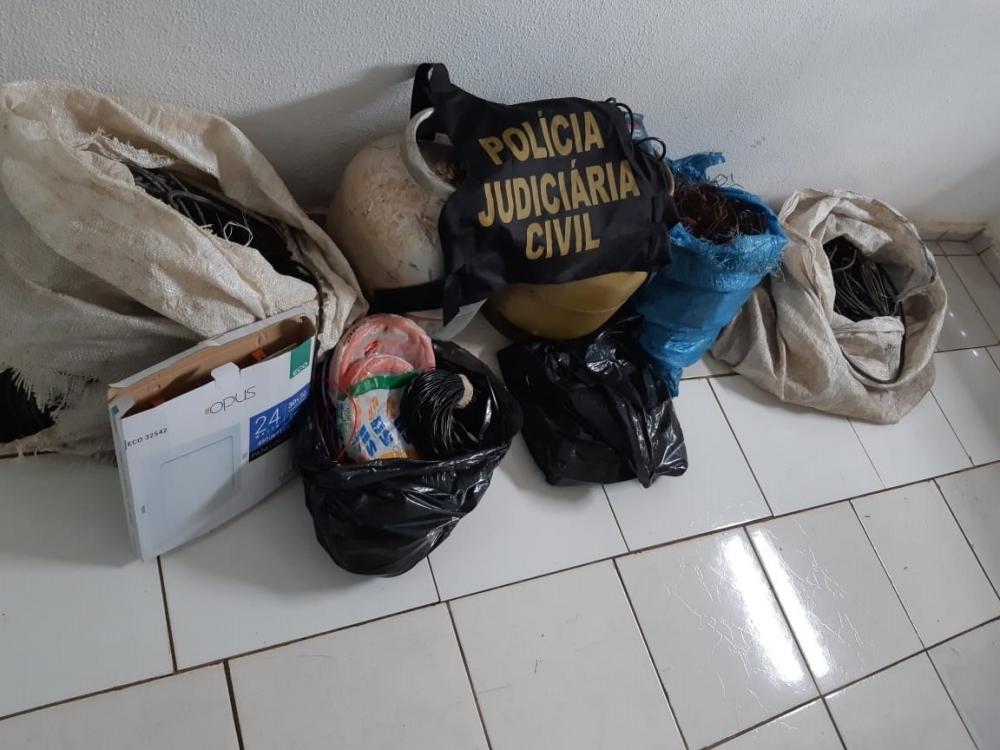 Polícia Civil prende receptador de fios de cobre e botijões de gás em Sorriso