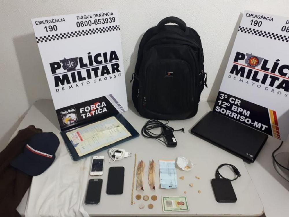 Força Tática prende dois e recupera produtos furtados em Sorriso