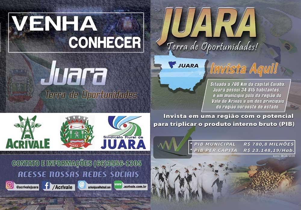 Juara participa essa semana em Cuiabá do ACRICORTE, evento voltado para discutir o mercado da agropecuária.