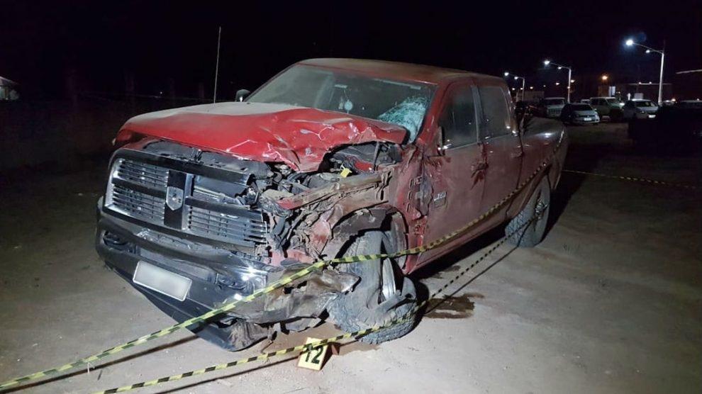 Violenta colisão entre moto e caminhonete deixa um morto no Nortão; motorista é preso