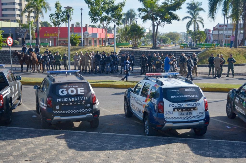 Operação em Sinop conta com mais de 100 agentes e 27 viaturas