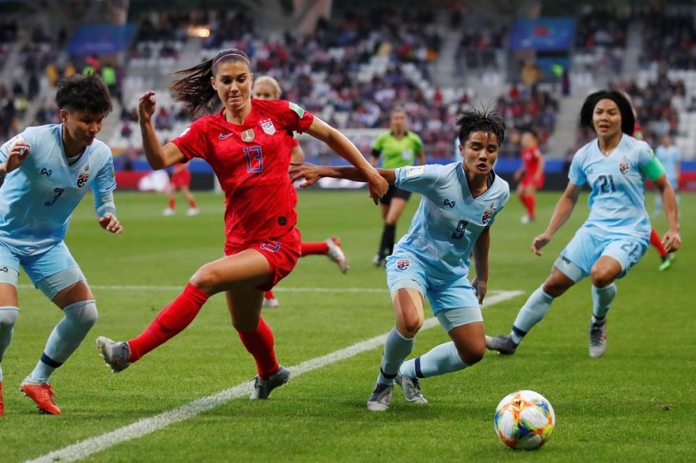 Estados Unidos marcam 13 gols na estreia da Copa do Mundo feminina