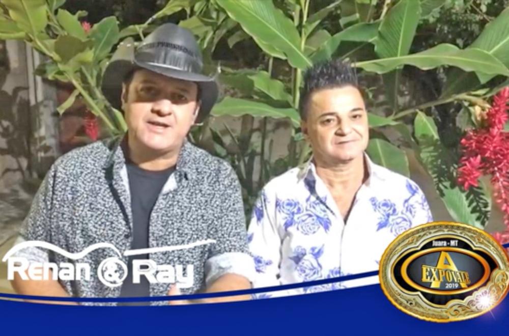 Juara: Dupla Renan e Ray abre os shows na 27ª Expovale dia 10 de agosto.
