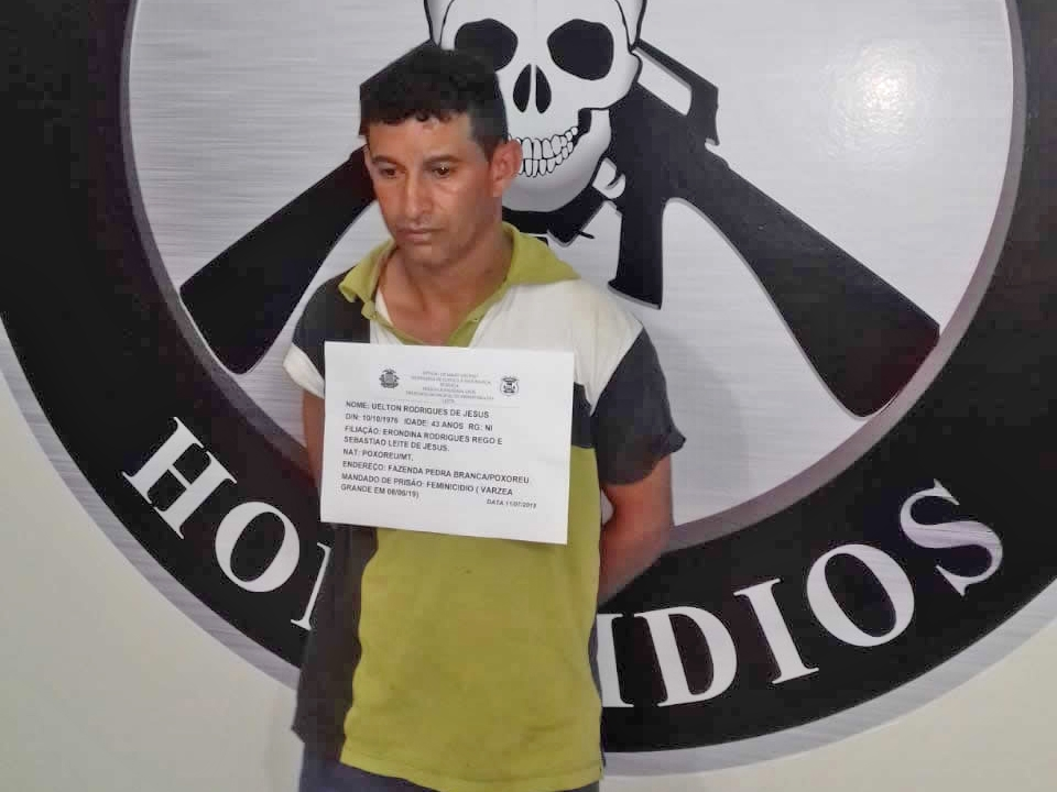 Suspeito de matar companheira em Várzea Grande é preso em Primavera do Leste