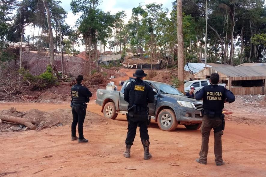 Uma pessoa morre durante operação da PF contra garimpo ilegal