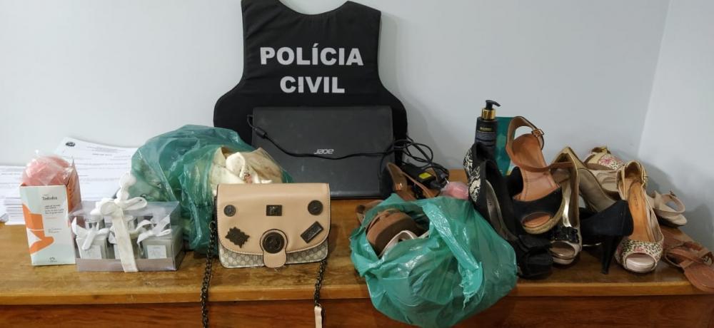Polícia Civil recupera produtos furtados em residência de Juara e prende autor dos furtos.