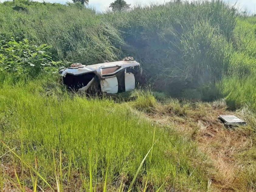 Acidente na Rodovia do Vale deixa três feridos em Juara e um é transferido para Sorriso.