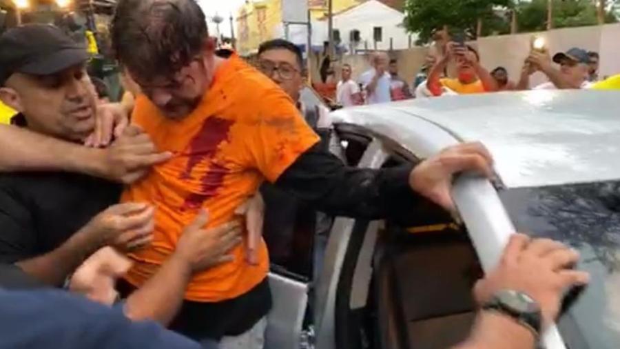Senador Cid Gomes é baleado ao tentar entrar em quartel da PM com retroescavadeira