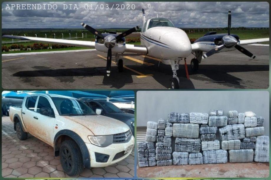 Avião e mais de 500 quilos de cocaína são apreendidos em MT