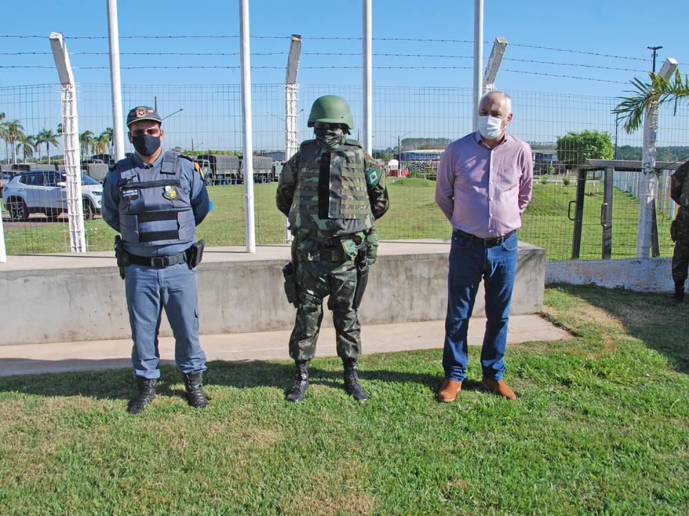 Exército Brasileiro monta base provisória em Juara com cerca de 170 homens e 23 viaturas