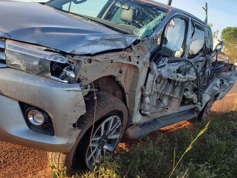 Produtor rural Didi Carvalho sofre grave acidente em Novo Paraná e escapa ileso.
