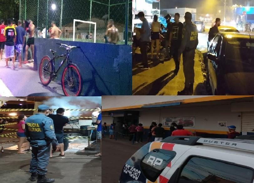 PM monitora e dispersa grupo de pessoas aglomeradas em vários bairros da capital