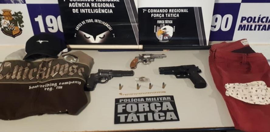 Suspeito de roubo é identificado e arma de fogo apreendida em Tangará da Serra
