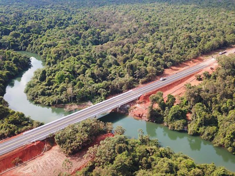 DNIT entrega oitava ponte na BR-242 e impulsiona logística em Mato Grosso