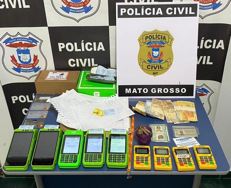 Estelionatários presos, que agem a mando de grupo criminoso, aplicam golpes com prejuízo de R$ 38 mil