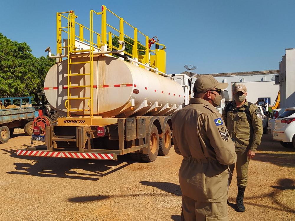 Bombeiros instalam base em Juara para monitoramento e combate às queimadas urbanas e rurais.