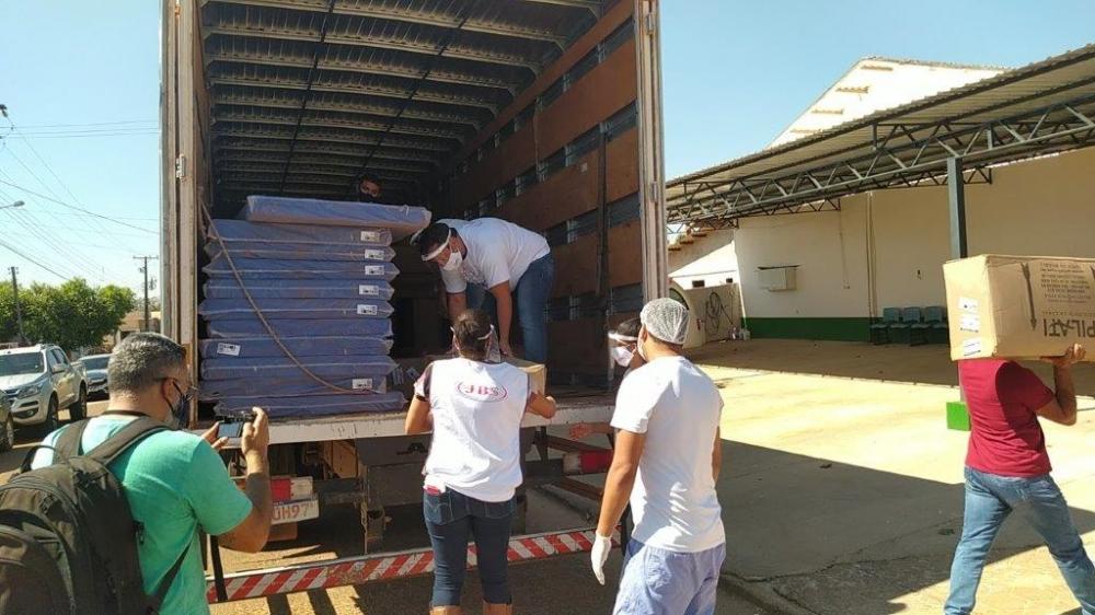 JBS entrega novos equipamentos hospitalares para o Hospital Municipal de Juara.