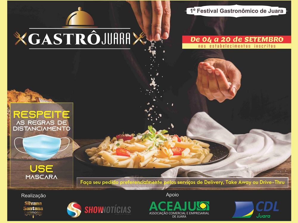 """Juara terá de 04 a 20 de setembro o primeiro Festival Gastronômico """"Gastrô Juara"""" em setembro."""